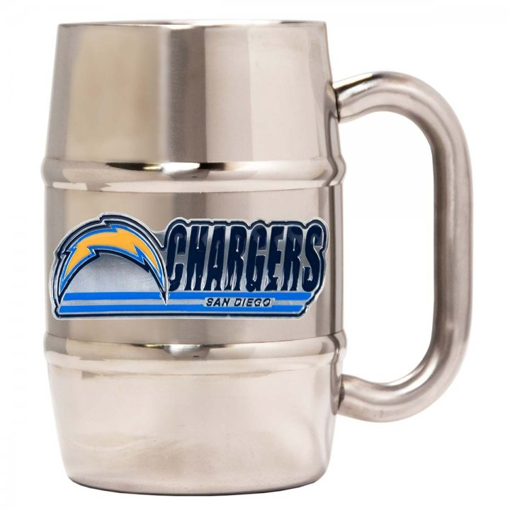 Los Angeles Chargers Los Angeles Chargers 16 oz Double Wall Stainless Steel Mug