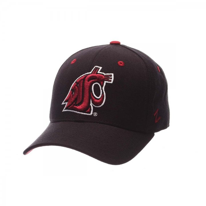 Washington State Cougars Zephyr NCAA Dh Fitted Hat (Black)