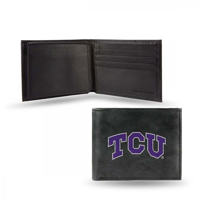 TCU Horned Frogs NCAA Leather Wallet (Black)