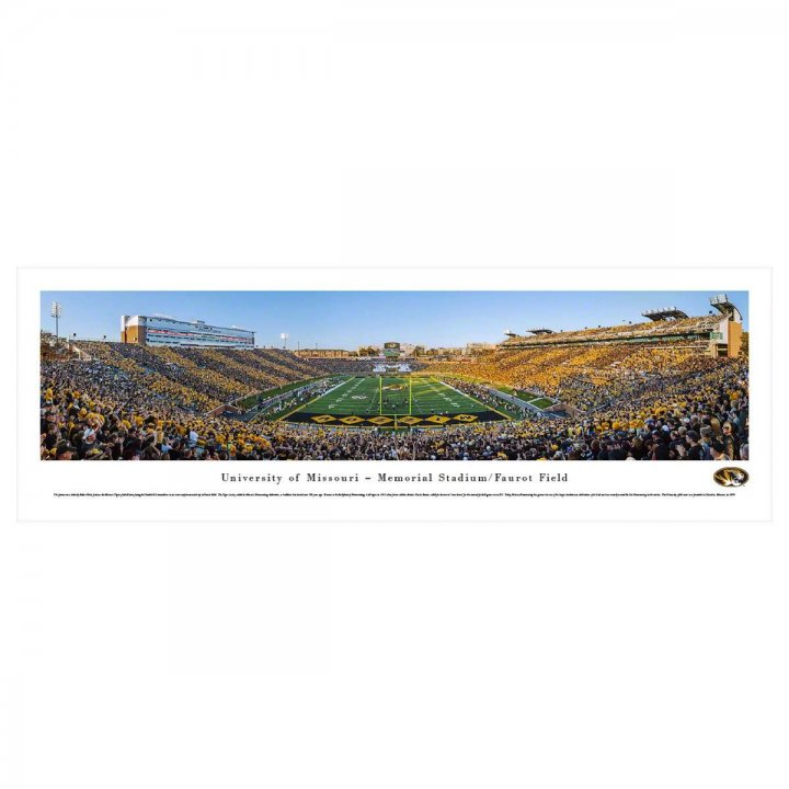 Missouri Tigers End Zone Unframed Panorama