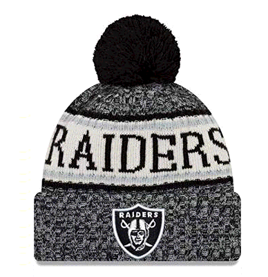 New Era Oakland Raiders NFL 18 Sideline Sport Knit Hat Black/White Size One Size