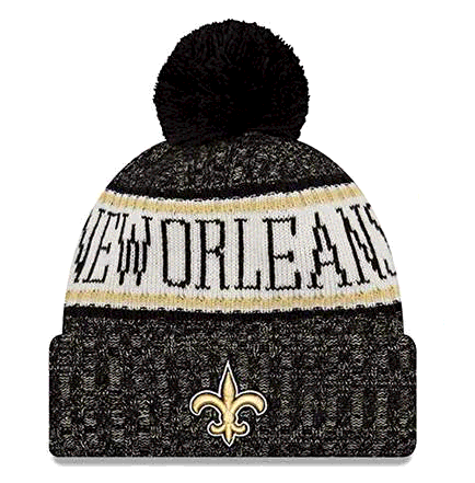 New Era New Orleans Saints NFL On Field 18 Sport Knit Beanie Beany M