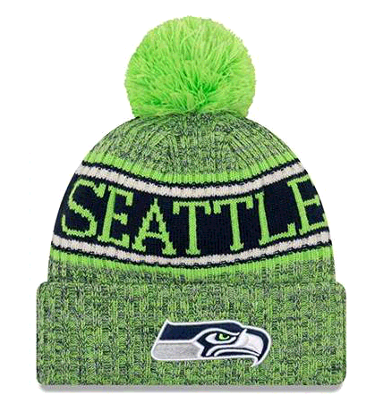 New Era 2018 NFL Seattle Seahawks Reverse Sport Stocking Knit Hat Winter Beanie