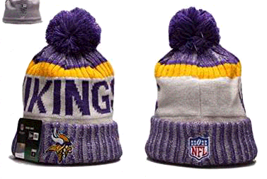 New Era Minnesota Vikings NFL Sport Knit Beanie Purple