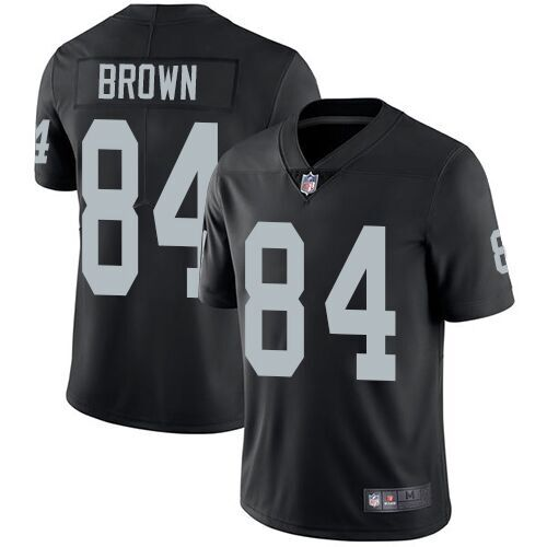 Mitchell & Ness Men's Oakland Raiders #84 Antonio Brown Black Team Color Limited Player Stitch Jersey