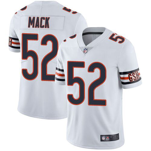 Majestic Athletic Men's Chicago Bears #52 Khalil Mack White Jersey