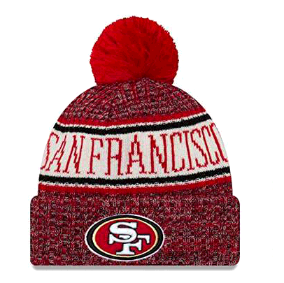 New Era San Francisco 49ers NFL 18 Sideline Sport Knit Hat Red/White/Black Size One Size