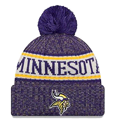 New Era Minnesota Vikings NFL 18 Sideline Sport Knit Hat Purple/Gold Size One Size