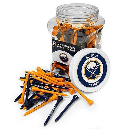 Buffalo Sabres Imprinted Tee Jar 175 Count