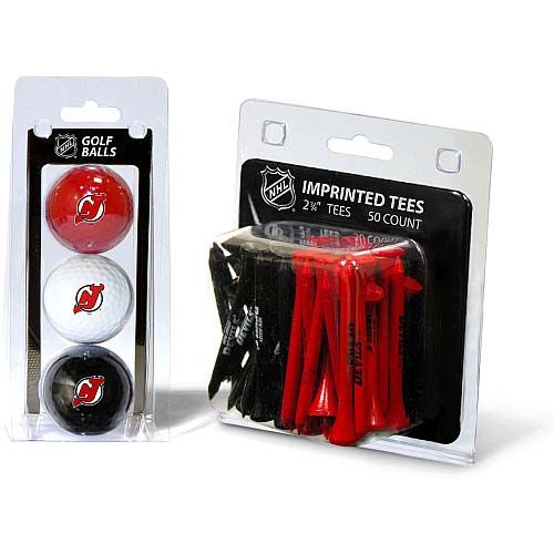 New Jersey Devils 3 Pack Golf Balls And 50 Tees Pack