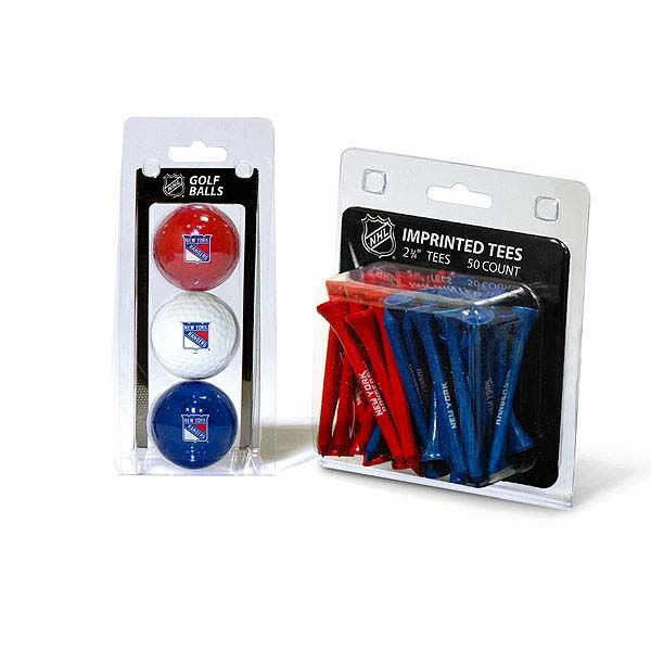 New York Rangers 3 Pack Golf Balls And 50 Tees Pack