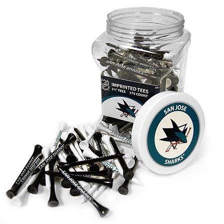 San Jose Sharks Imprinted Tee Jar 175 Count