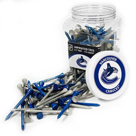 Vancouver Canucks Imprinted Tee Jar 175 Count