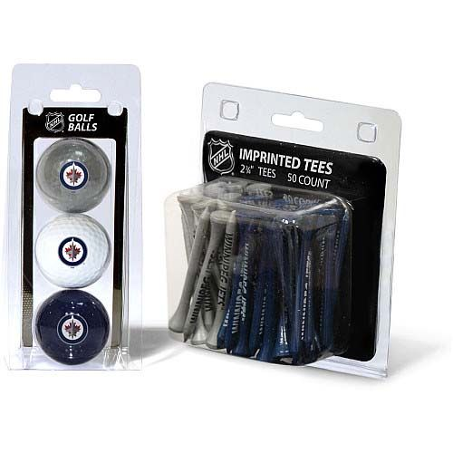 Winnipeg Jets 3 Pack Golf Balls And 50 Tees Pack