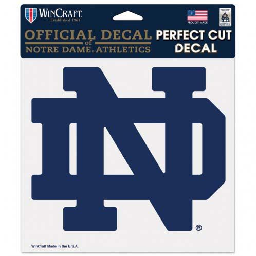 Notre Dame Fighting Irish 8 In. Die Cut Decal