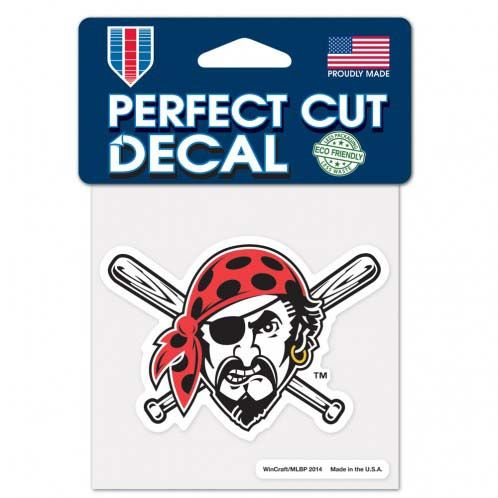 Pittsburgh Pirates 4x4 Color Die Cut Decal