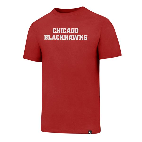 Chicago Blackhawks NHL Wordmark Core Club Tee (Red)