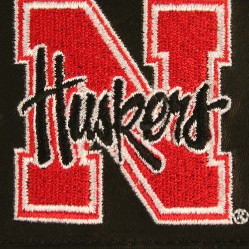 Nebraska Cornhuskers NCAA Leather Wallet (Black)