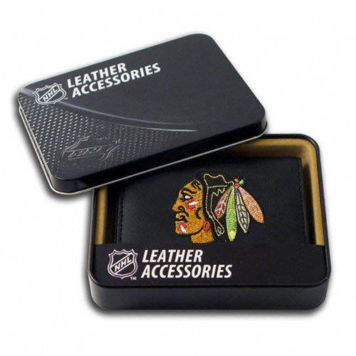 Chicago Blackhawks NHL Leather Wallet (Black)