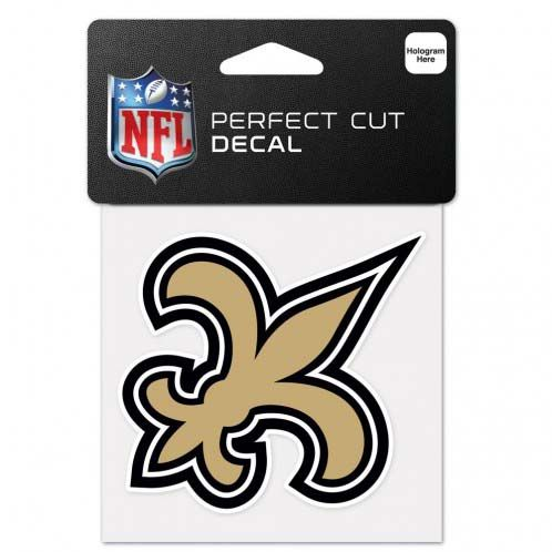New Orleans Saints 4 X 4 Color Die Cut Decal