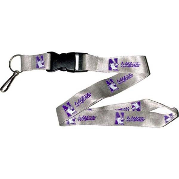 Northwestern Wildcats NCAA Team Logo Lanyard (Gray)