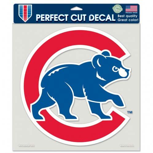 Chicago Cubs 8in Die Cut Decal