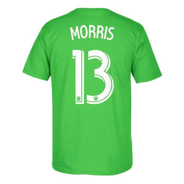 Seattle Sounders MLS Jordan Morris Go To Player Name And Number Tee (Green)