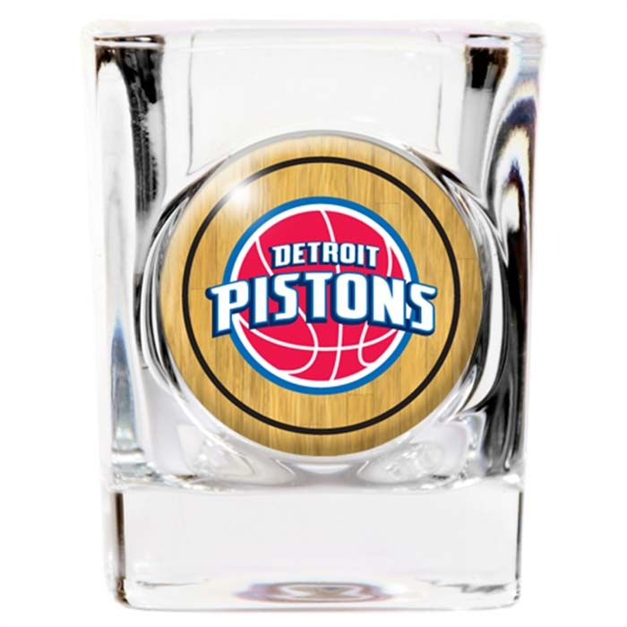 Detroit Pistons Square Shot Glass 2oz