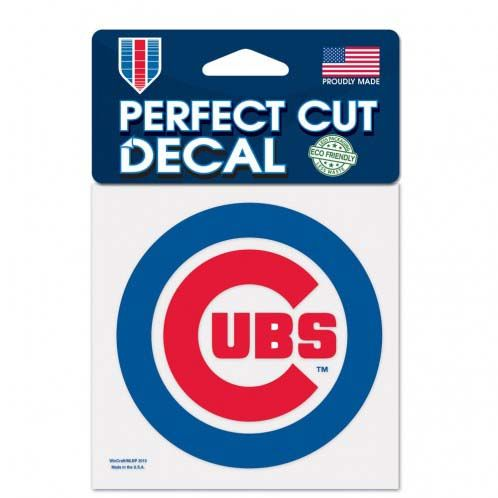 Chicago Cubs 4x4 Color Die Cut Decal