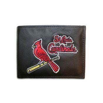 St. Louis Cardinals MLB Leather Wallet (Black)
