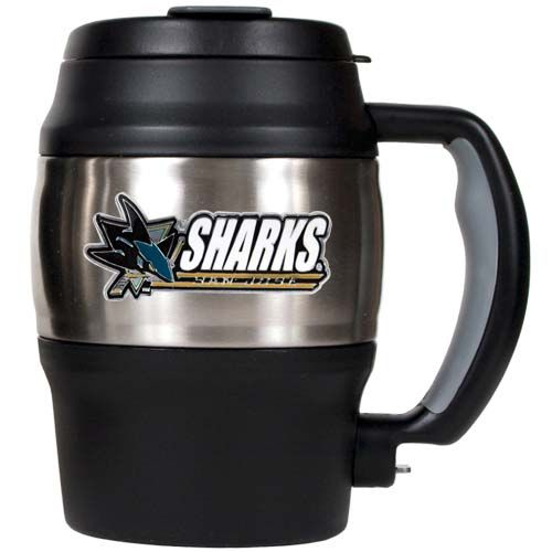 San Jose Sharks 20 Oz Heavy Duty Insulated Mug (Silver/Black)