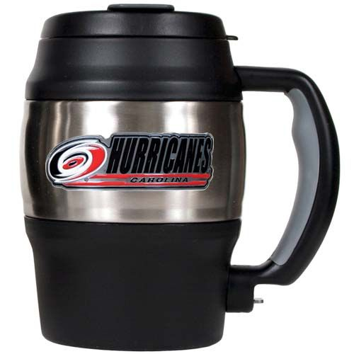 Carolina Hurricanes 20 Oz Heavy Duty Insulated Mug (Silver/Black)