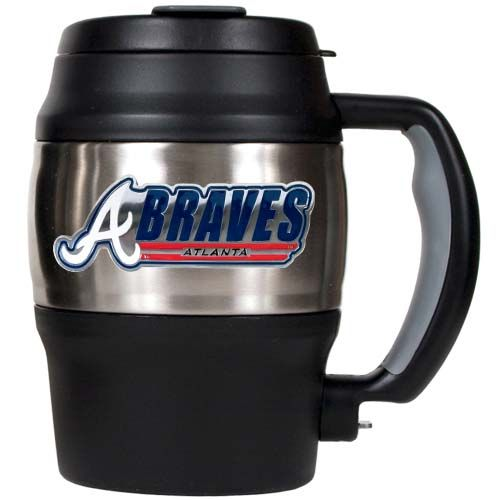 Atlanta Braves MLB Atlanta Braves 20 oz Heavy Duty Insulated Mug (Silver/Black)