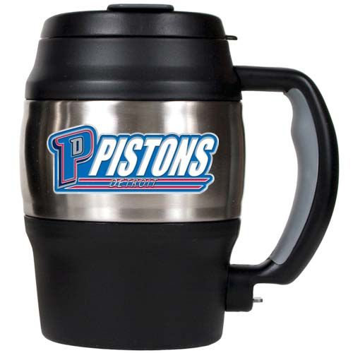 Detroit Pistons NBA Detroit Pistons 20 oz Heavy Duty Insulated Mug (Silver/Black)