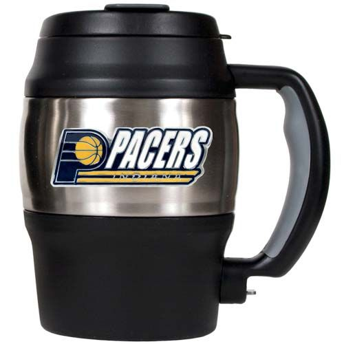 Indiana Pacers NBA Indiana Pacers 20 oz Heavy Duty Insulated Mug (Silver/Black)