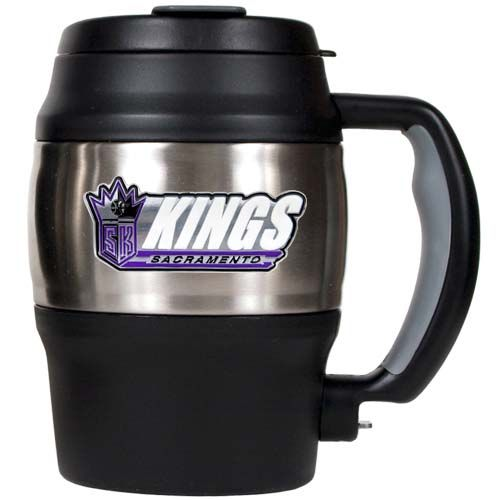 Sacramento Kings NBA Sacramento Kings 20 oz Heavy Duty Insulated Mug (Silver/Black)