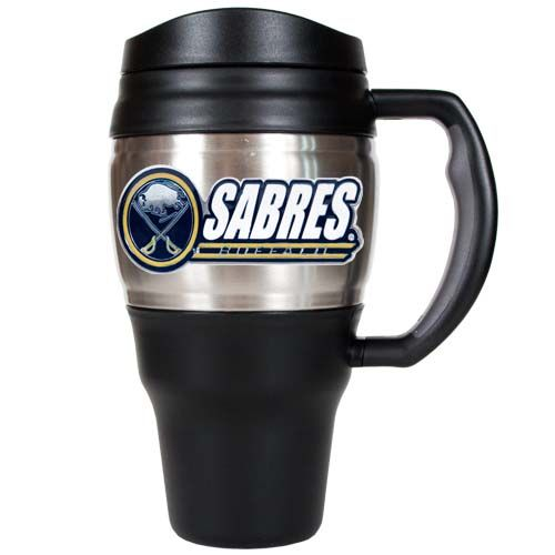 Buffalo Sabres NHL Buffalo Sabres 20 oz Heavy Duty Travel Mug (Silver)