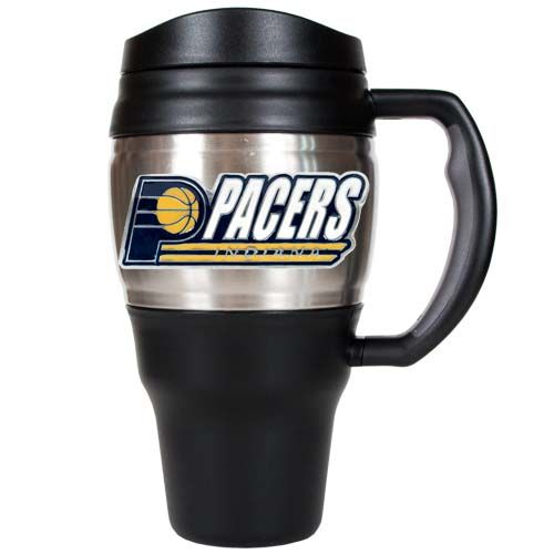 Indiana Pacers NBA Indiana Pacers 20 oz Heavy Duty Travel Mug (Silver)
