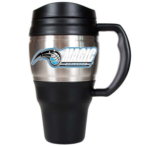Orlando Magic NBA Orlando Magic 20 oz Heavy Duty Travel Mug (Silver)