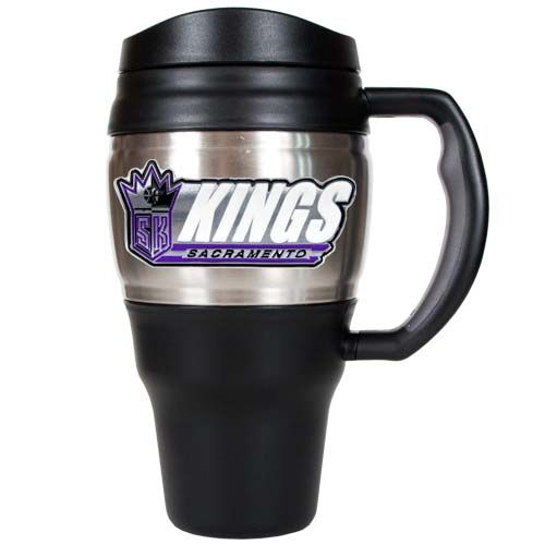 Sacramento Kings NBA Sacramento Kings 20 oz Heavy Duty Travel Mug (Silver)