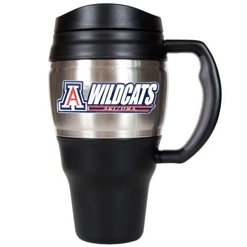 Arizona Wildcats NCAA Arizona Wildcats 20 oz Heavy Duty Travel Mug (Silver)