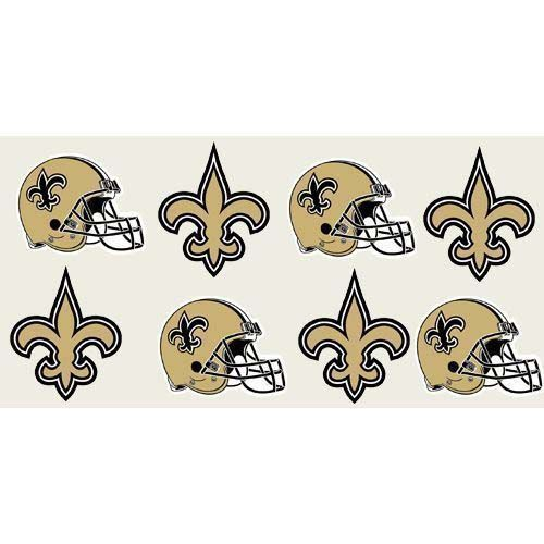 New Orleans Saints Temporary Tattoos Sheet