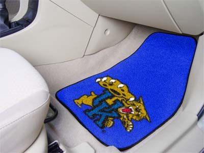 Kentucky Wildcats 2 Piece Carpet Car Mat Set