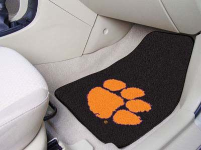 Clemson Tigers 2 Piece Carpet Car Mat Set
