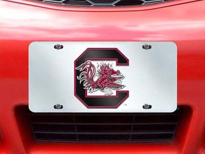 South Carolina Gamecocks License Plate Inlaid