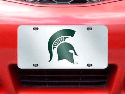 Michigan State Spartans License Plate Inlaid