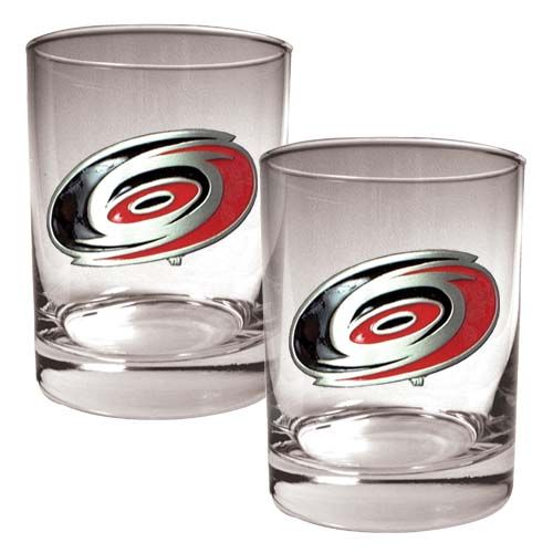Carolina Hurricanes NHL 2 Piece Rocks Glass Set (Clear)