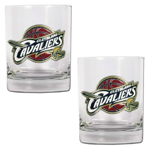 Cleveland Cavaliers NBA 2 Piece Rocks Glass Set (Clear)