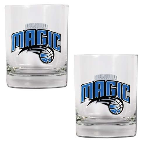 Orlando Magic NBA 2 Piece Rocks Glass Set (Clear)