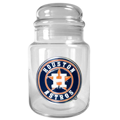 Houston Astros MLB Candy Jar (Clear)